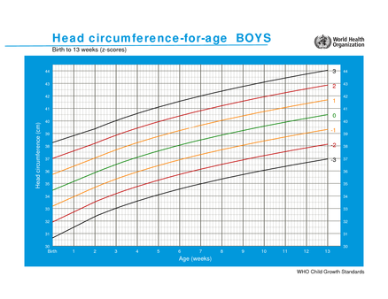 chart who child growth standards head circumferencefor