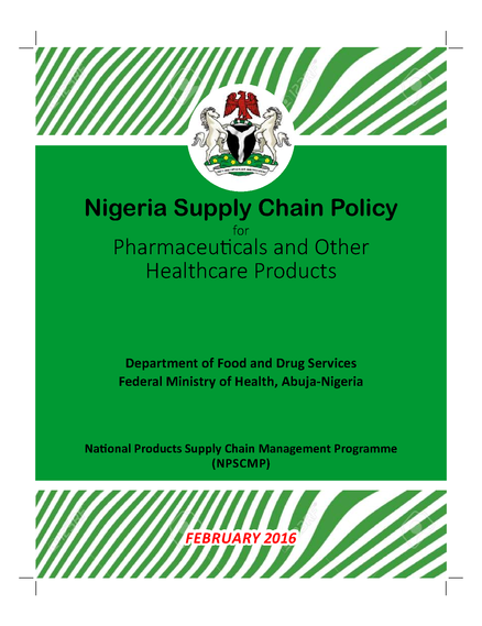 Nigeria Supply Chain Policy for Pharmaceuticals and Other Healthcare