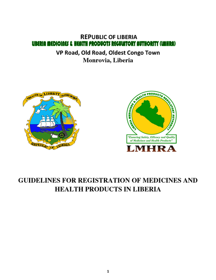 Guidelines for Registration of Medicines and Health Products